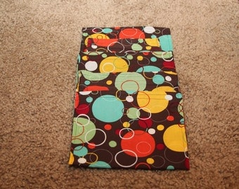 Party Favors-Reusable Sandwich Bags-Brown with Colored Dots