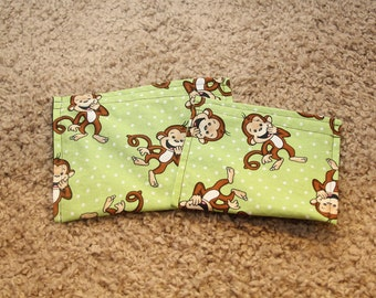 Reusable Sandwich and Snack Bag Combo-Laughing Monkeys