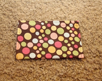 Makeup-Coupon-Envelope System Pouches-Brown with Polka Dots