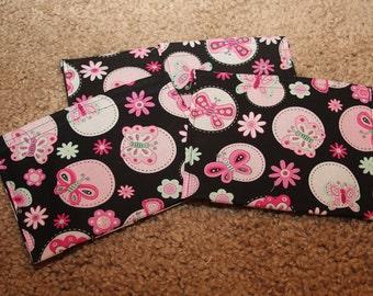 Party Favors-Reusable Sandwich Bags- Pink Butterflies