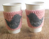 Coffee Cup Cozy BEST FRIENDS, Coffee cup Sleeve, Reusable Coffee Cozy by The Cozy Project