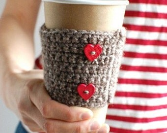 Coffee Cozy, Coffee Cup Cozy, Crochet Coffee Sleeve, Reusable Coffee Sleeve by The Cozy Project