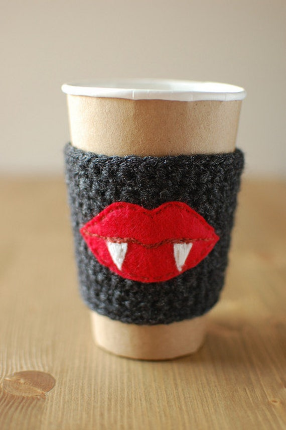 Coffee cozy VAMPIRE by The Cozy Project