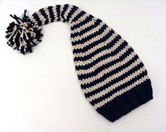 Knitted Hat Newborn Elf Hat Handknit Cotton Baby Hat ready to ship