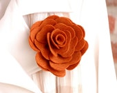 SALE Lapel or Purse Pin - Pumpkin Spice - Rose - In Stock - teen gift - gift for her - Accessory