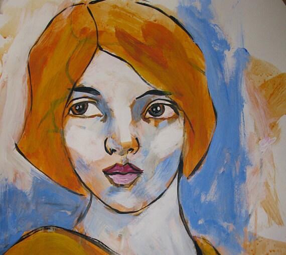 """pret à porter """"Portrait  original painting by Michael Hammer"""
