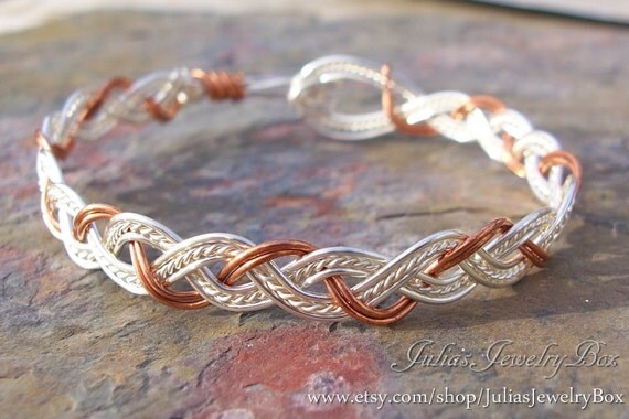Braided Copper Wire : Items similar to braided bracelet silver and copper wire