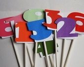 SAMPLE SALE 1 to 9 digit cupcake toppers