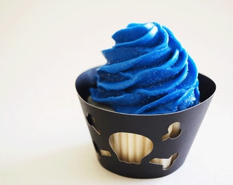 Skull and Cross Bones Cupcake Wrappers In Your Choice of Color Qty 12 By Your Little Cupcake