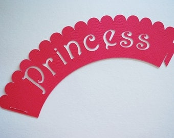 Princess Cupcake Wrappers In Your Choice of Color Qty 12 By Your Little Cupcake