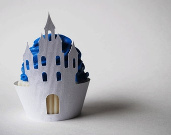 Castle Cupcake Wrappers In Your Choice of Color Qty 12 By Your Little Cupcake
