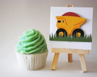 Dump Truck Note Cards In your choice of color Qty 12 By Your Little Cupcake
