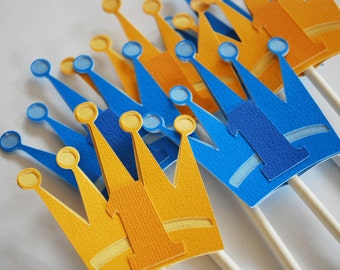 Royal Crown Cupcake Toppers Set of 12 By Your Little Cupcake