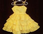 Sunny Mariposa Ruffle Dress Girly Girl Dress