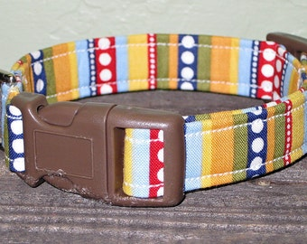 Dots and Dashes Dog Collar