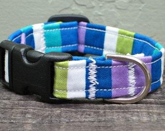 Color Block Dog Collar - Blue Dog Collar - Boy Dog Collar - Green Dog Collar - Purple Dog Collar - Girl Dog Collar - Custom Dog Collar