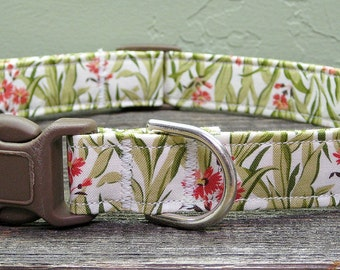 Secret Garden Floral Dog Collar