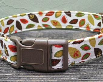 Fall Leaves Autumn Dog Collar