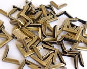 100 Antique Bronze Metal Book Corners - Bookbinding - Scrapbooking - Photo Corners - Diary - Journal