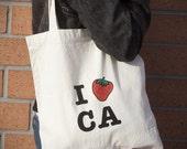 I Strawberry California Reusable Shopping Bag