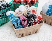 Set of Four Mixed Berry Recycled Hemp & Organic Cotton Napkins