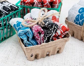 Set of Four Mixed Berry Recycled Hemp & Organic Cotton Napkins