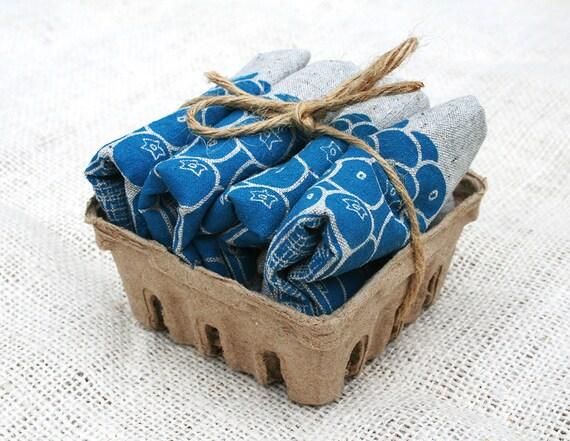 Set of Four Blueberry Recycled Hemp & Organic Cotton Napkins