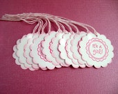 It's A Girl Favor Tags - Set of 10 - Other colors available