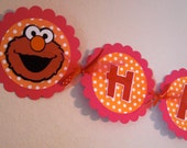 Elmo Banner - Happy Birthday - Pick Your Colors