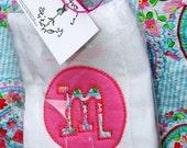 Custom Monogram Burp Cloth Great Baby Gift Shower Gift