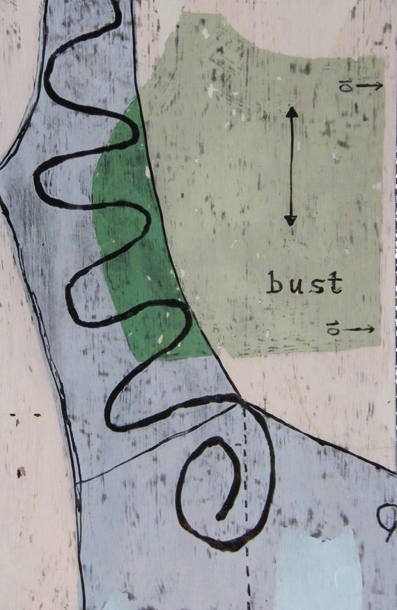 Guide for Ruffle, encaustic and latex on upcycled wood