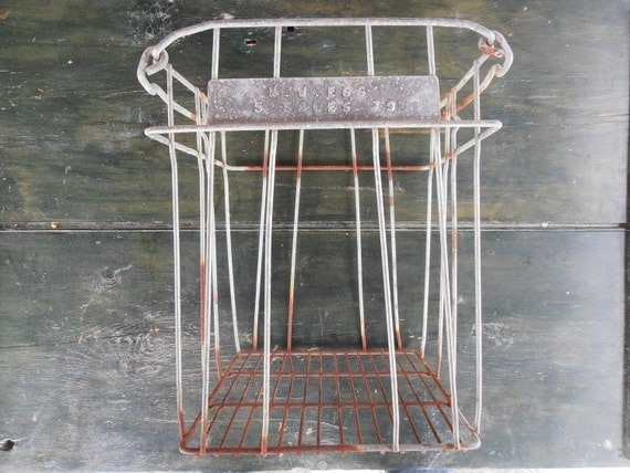 Hold for Siobhan: Egg Crate, metal basket, NW 79 -Vintage