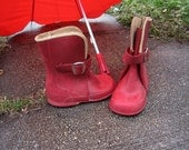 Wee Red Singing In The Rain Ball Brand Rubber Galoshes
