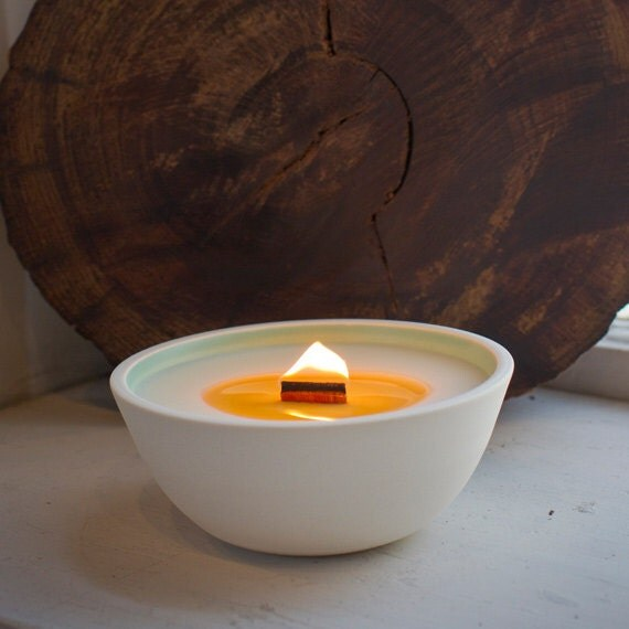 Zen Garden soy candle with wooden wick SECONDS SALE