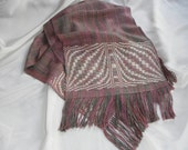 Handwoven Scarf in Bamboo, Linen and Rayon (826)