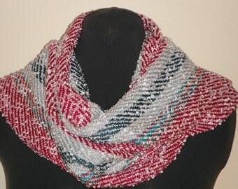 Silk and Rayon Handwoven Scarf (820)