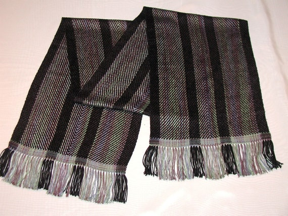 Handwoven Scarf in Bamboo and Rayon (827)