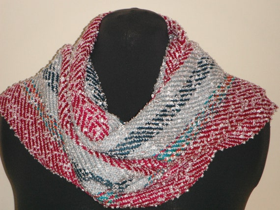Silk and Rayon Handwoven Scarf (820)