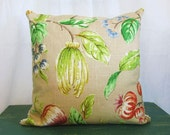 Pillow Cover 16 x 16 Linen UPCYCLED Vintage Chenille