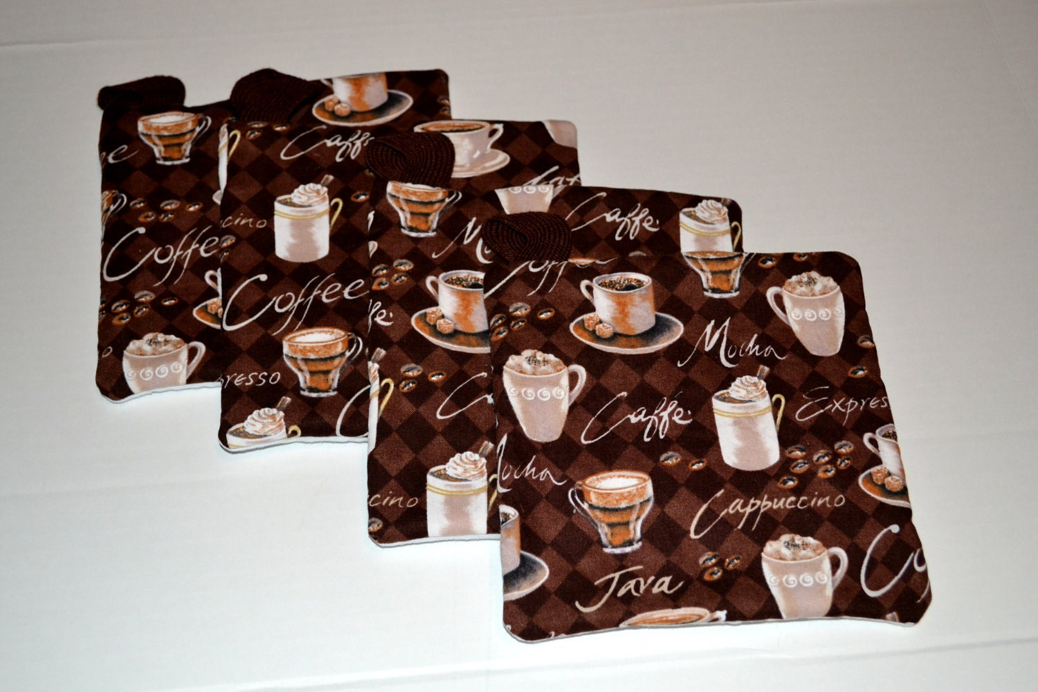 Hot Pads Pot holders Coffee Theme Kitchen by amytopstitching