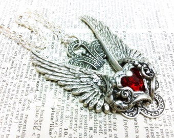Valkyrie Aged silver plated brass filigree pendant Fantasy mythology Vintage victorian steampunk gothic style