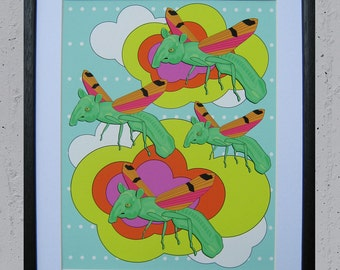 """Fantastic Voyage Giclee Print 11"""" by 14"""" Unframed"""