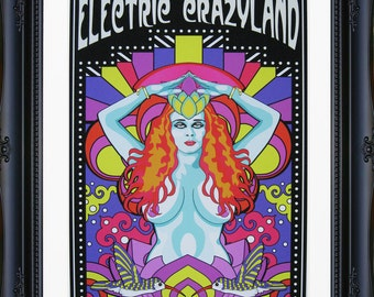 "Electric Crazyland Giclee Print 11"" by 14"" Unframed"