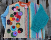 Eco Friendly Recycled Children Sweater Cardigan  Upcycled
