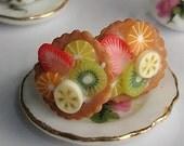 Fruit tart post earrings
