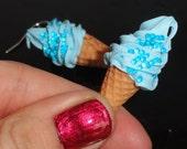 Blue bubbles ice cream - earrings