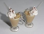 Iced coffee - earrings
