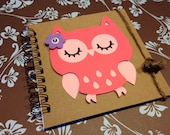 Whooo's 2 Cute -- PINK  Owl -- Girl -- Memory book -- Guest Book -- Birthday Party -- Baby shower