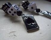 Gambling Betty Dice Poker Dangle Earrings