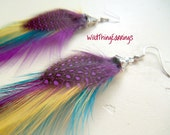 Wild Thang You Make Everything Groovy Feather Earrings